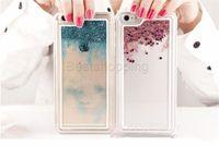 borde de estrella al por mayor-Para iPhone 8 7 6 6S Plus 5 5S SE Stars Stars Liquid Case Glitter Quicksand Bling Fundas de teléfono para Samsung S8 Plus S7 Edge