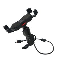 Wholesale Retractable Cell Phone Charger - Universal Cell Phone Holder Phone Mount 9cm Arm Retractable Grip With USB Charger For Motorcycle Mirror Base Microscope Base KPH-UX-9-J USB