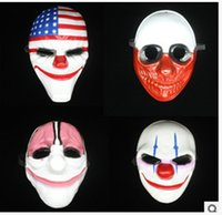 Halloween Prop Wholesale Pas Cher-Vente en gros Halloween Horror Payday 2 Festa Cosplay Masquerade Prop Carnival Mask Joker Dallas Wolf Hoxton Chaussures Party Movie Props Mask