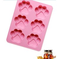 Wholesale Dog Mold Mould - Lovely Sweet Multifunction Dog Paw Silicone Mold Ice Cube Cake Soap Baking Mould Kitchen Accessoriess