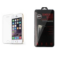 Wholesale Iphone5 Package - Screen Protector Tempered Glass Film For Iphone5 6 7 6s plus 7 plus For LG Stylo 3 LG G5 G6 LG Aristo V3 9H with Plastic Package