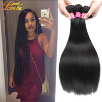 brezilya insan saç uzatma 3pc toptan satış-Toptan fiyat 7A Brezilyalı Stright İnsan Saç Örgüleri 3 adet Lot Işlenmemiş Çin Insan Uzatma narutal 8-28inche Insan Saç Uzatma