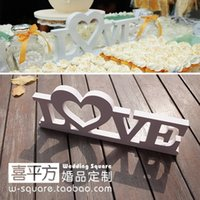 Wholesale Background Size - Wedding Big Size Love Photographic Background Stereo White Love Letters Wedding Party Props 30*12Cm Home Decor Accessory