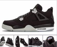 Wholesale Cheap Mens Canvas Shoes - 2017 Cheap Retro 4 IV Eminem Basketball Shoes For Men Black Denim Undefeated Encore Blue Olive Green Mens Version Wholesale 41-47
