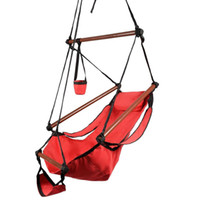 Wholesale deluxe hammock for sale - Group buy Hammock Hanging Chair Air Deluxe Outdoor Chair Solid Wood lb