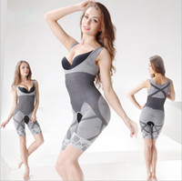 Wholesale Bamboo Charcoal Slimming Suit Wholesale - hot sale Magic Shapers Underwear Bamboo Charcoal Slimming Suits Bodysuit Body Shaper Shapers dress 3 SizeYYA136