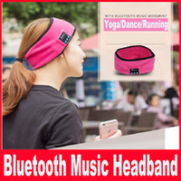 Wholesale Music Gift Wrap Wholesale - Bluetooth Music Headband Magic Stereo Sports Yoga Stretch Head Belt Wrap Caps Perfect Gifts With Bluetooth Music Movement