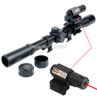 Tiroir À Fusil Livraison Gratuite Pas Cher-4x20 Air Gun Optique Scope Riflescope Telescope Red Dot Laser Sight 20mm Mount pour 22 Calibre Rifles Airsoft Guns Livraison gratuite