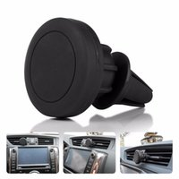 Wholesale Iphone Dock Support - Wholesale- Universal Car Air Vent Mount Clip Magnetic Holder Dock for iPhone for Samsung Magnet Holder for GPS Mobile Support Phone Holder