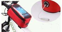 """Wholesale Mtb Wholesale Prices - Best price 4.8"""" 5.7""""Cycling Bike Bicycle bags panniers Frame Front Tube Bag For Cell Phone MTB Bike Touch Screen Bag 20pcs"""