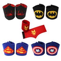 Wholesale Fancy Patterns - Captain America kids adult Wrist Bracers Fancy dress props New super hero cartoon pattern Wrist Bracers
