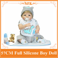 Wholesale Birth Cool - Super Cool 57cm About 22'' Whole Silicone Bebes Reborn Bonecas Play Toys For Babies Bathing Bebe Alive Doll As Enducational Doll
