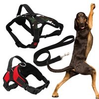 Wholesale Collars For Big Dogs - New Big Dog Soft Adjustable Harness Pet Large Dog Walk Out Harness Vest Collar Hand Strap for Small Medium Large Dogs with Rope