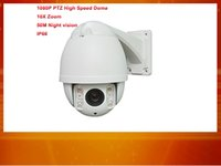 Wholesale Dome Ccd Zoom - DHL Free Shipping 4 in 1 Waterproof Mini 10X Zoom PTZ IR 50m 1080P High Speed Dome Camera, Analog, AHD, CVI, TVI compatible