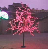 ingrosso ciliegio principale blu-972 Pcs LED 6ft Altezza LED Cherry Blossom Tree LED Albero di Natale Luce Impermeabile 110 / 220VAC ROSSO / Rosa / BLU Colore Esterno Uso LLFA