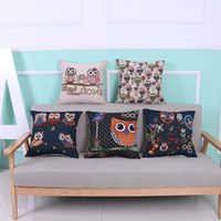 Wholesale Wholesale Owl Pillow - Pillowcase Fashion Owl Pillow Dyed Jacquard Noodle Pillowcase Cute Animal Car Lumbar Pillow Cushion Cover Office Decorative Pillowcase
