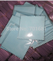 Wholesale Silver Polishing Cloth Fabric - Epackfree 200pcs 8*8cm MIXED 4 colors Silver Polish opp bags Cloth for silver Jewelry Cleaner suede fabric material