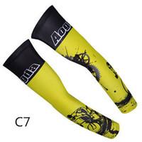 ingrosso maniche bracciali gialle-Leader Ciclismo Mountain Bike Ciclismo Maschio Moda maschile Cool Scaldini Sport Outdoor Manicotti gialli
