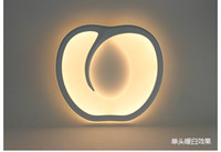 Wholesale Apple Wall Lamp - Contemporary LED Wall Light Acryl Apple Screen Bedroom Lamp 15-30W Wall Lamp White Lighting Bedside Lamp