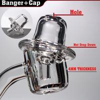 Wholesale Ufo Cap - UFO quartz banger carb cap 4mm thickness 45 90 degree for glass oil rig glass bong
