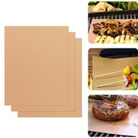 Wholesale Reusable No Stick BBQ Grill Mat Sheet Hot Plate Portable Easy Clean OutDoor cooking and baking Tool