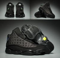 Boîtes En Gros Usa Pas Cher-New Arrive Air Retro 13 XIII Black Cat Man Baskets Chaussures 13S A High Quality Wholesale Size USA 8 13 Sneaker Drop Shipping With Box