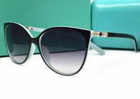 Wholesale Adult Novels - Novel Cat Eye Goggle Outdoor brands designer Eyewear Sunglasses lady women black shades Fashion Retro with original boxes