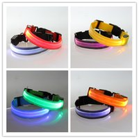 Discount led collar ems - by dhl or ems 200pcs Nylon Band Transparent LED Flashing Arm Band Wrist Strap Armband for Outdoor Night Activity Safety Party