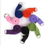 ingrosso cintura di corda di yoga-183 * 3.8cm Tipo lungo Yoga Stretch Strap Training Belt Vita gamba Fitness palestra D-Ring Pilates Fitness Figura Vita gamba tirando la corda