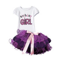 Wholesale Newborn Baby Girl Clothes One Birthday Girl Tutu Outfits Summer Bebes Sets Toddler Kids Sport Suits Infant Party Wear Years