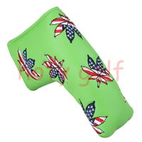 Wholesale golf equipment free shipping - Wholesale golf equipment NEW us maple green blue golf Cover Golf Putter HeadCover club Cover 1pc Free Shipping