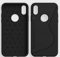 Wholesale iphone s back online – custom S Line Soft TPU Gel Skin Silicon Back Cover For iphone X Plus Case