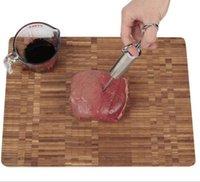 nadeln injektion großhandel-New Food Flavor Seasoning BBQ Fleisch Spritze Marinade Injector Kit Durable Sharp Injection Gun mit 2 Nadeln für Schweinefleisch Huhn Pute