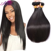 Brazilian Virgin Hair Cheap Straight Wholesale 3 Bundles Virgin Hair Extensões Humanas Brasileiras Cor natural Straight