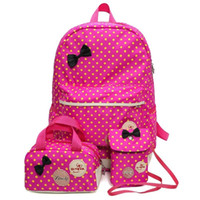 Fashion 3 Pcs / Set Children Mochilas Cute Large Capacity School Rucksack Book Schoolbag para meninas Adolescentes