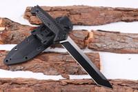 faca de ponto venda por atacado-Top Qualidade Sobrevivência Reta Faca 7Cr17 Titanium Tanto Ponto Lâmina G10 Lidar Com Acampamento Ao Ar Livre Caminhadas Lâminas De Faca Fixa