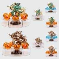 Wholesale Dragon Ball Z Shenron - 15cm Dragon Ball Z Shenron Action Figures Golden and green Dragonball Z Figures Set Dragon + 7pcs 4cm PVC Balls + Shelf toy