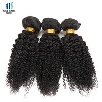 Cor natural 2 4 Brown Raw Virgin Indian Kinky Curly Hair Weave 3 Bundles Remy Extensão do cabelo humano Afro Kinky Curly Hair Style