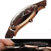 Wholesale Slim Men Wrist Watches - 2016 New Fashion Classic SINOBI Leather Strap Mens Man Fashion Style Quartz Military Slim Wrist Watch Montres Hommes