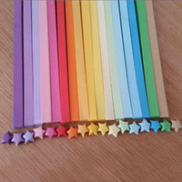 Wholesale Origami Stars - Wholesale-HOT 80pcs lot Handcraft Origami Lucky Star Paper Strips Paper Origami Quilling Paper Decoration