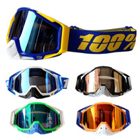 Wholesale Bike Motors - 2017 Newest 100% Brand Motocross Goggle Racing Motor Bike Gafas Motorcycle ATV Glasses 5 Colors With Goggle Bags