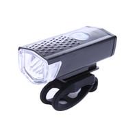 luces led para bicicleta de alta potencia al por mayor-300LM Ciclismo Bicicleta LED Lámpara USB recargable Bicicleta Luz delantera resistente al agua de alta potencia Cabeza linterna de advertencia de iluminación 3 modos