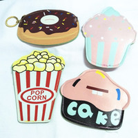 Vente en gros- M023 Cute Cartoon Ice Cream Cake Hamburger Pizza et Donut Coin Purse Wallet Card Bag Girl Women Student Gift Wholesale