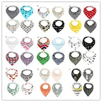 Wholesale INS Cartoon bibs Design Fox Burp Cloths New baby girls boys waterproof Pure cotton double layer bibs burp cloths