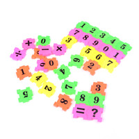 Wholesale add game - Wholesale- 36pcs lot Funny Children Kids Educational Early Learning Math Toys Number Digital Add Subtract Multiply Divide Game Toys