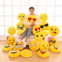 32 centímetros Cute Emoji Travesseiro Brinquedos Smiley Face Face Lágrimas de Joy Pillow Soft Stuffed Boneca Plush Cartoon almofada Brinquedos Pillow Presente Headrest