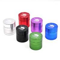 Wholesale Wholesale Aluminum Herb Grinders - DHL Tobacco Grinders Cali Crusher Grinders 4 Layers 42mm High Grade Aircraft Aluminum Herb Spice Crusher 6Colors VS Lighting Grinders