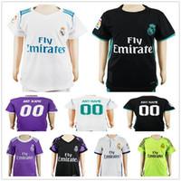 Wholesale Custom Boy Shorts - Kids Real Madrid Soccer Jerseys 4 Sergio Ramos 7 Cristiano Ronaldo Kroos Benzema Bale Marcelo Morata Isco Modric Custom Youth Football Shirt