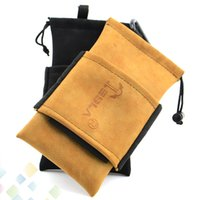 Wholesale Cigarette Bags - Tesla Bag Carring Pouch Box Portable Leather Carrry Case Black Brown Tesla Handbag Pocket Vape Holder for Tesla E Cigarette DHL Free