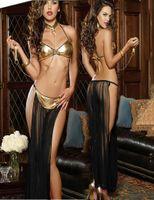 schwarzes chiffon- nachthemd groihandel-Schwarz Rot Lila exotische Wäsche-Frauen-reizvolle Nightgown Romantischen Chiffon Negligée Indien Ägypten Bauchtanz-Kostüm